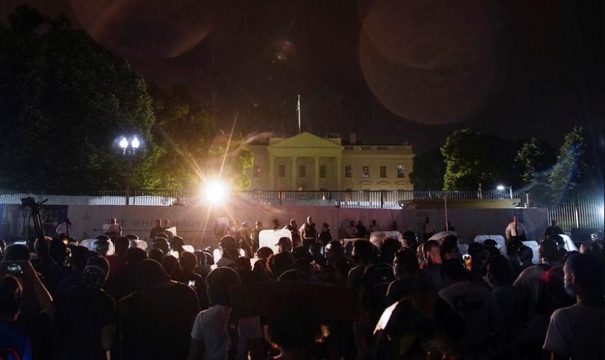 Frente a la Casa Blanca: protestas por asesinato de George Floyd llegaron a Washington