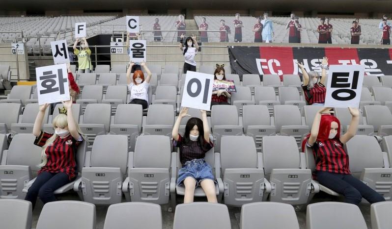 Será sancionado: club de fútbol en Corea del Sur usó a muñecas sexuales como público