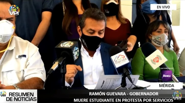 Gobernador de Mérida lamentó muerte de joven en protestas por fallas eléctricas