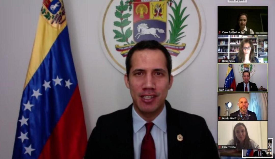 Guaidó con dirigentes de Juntos por el Cambio (Argentina): Hay que mantener presión internacional contra Maduro