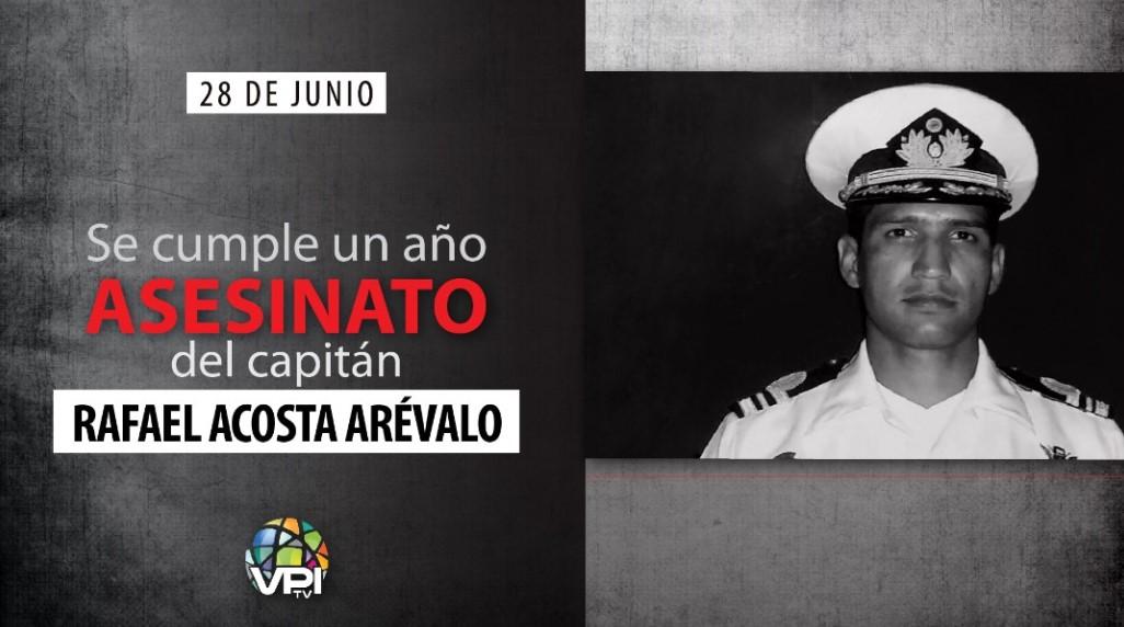 Se cumple un año del asesinato del capitán Rafael Acosta Arévalo
