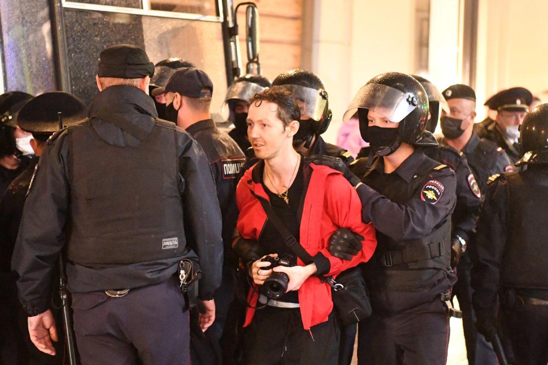 Más de 100 detenciones en Moscú (Rusia) en primer día de protestas contra reforma constitucional