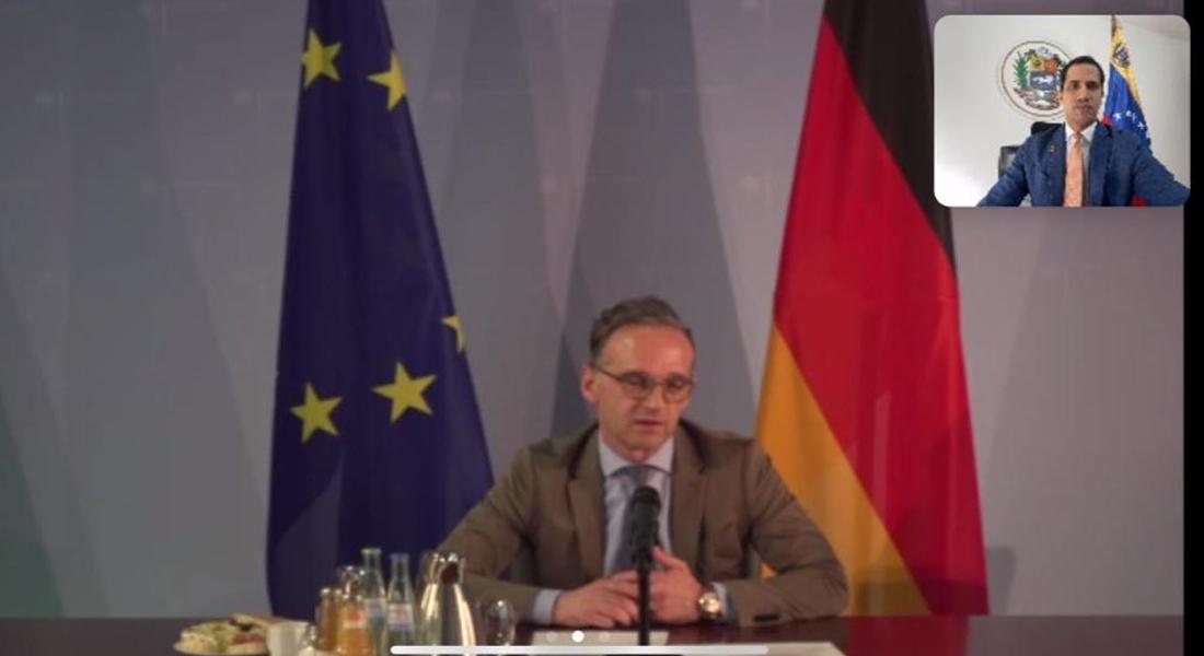 Guaidó conversó con ministro de Exteriores alemán sobre crisis humanitaria en Venezuela