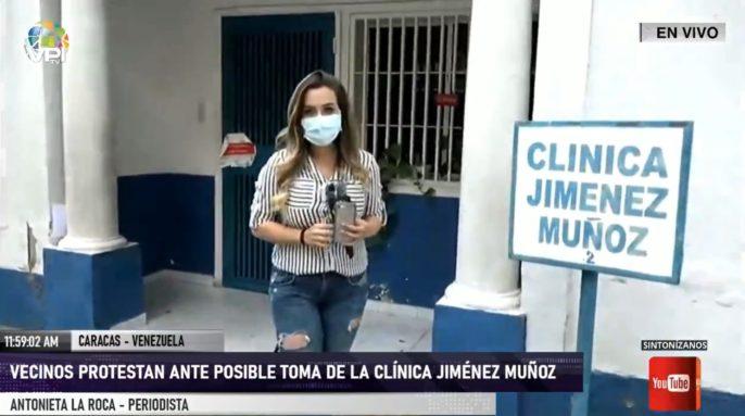 Antonieta La Rocca desde la clínica Jiménez Muñoz