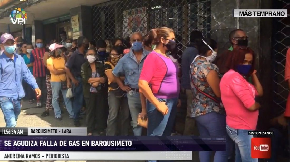Sin bioseguridad y distanciamiento físico: largas filas para abastecer gas doméstico en Barquisimeto