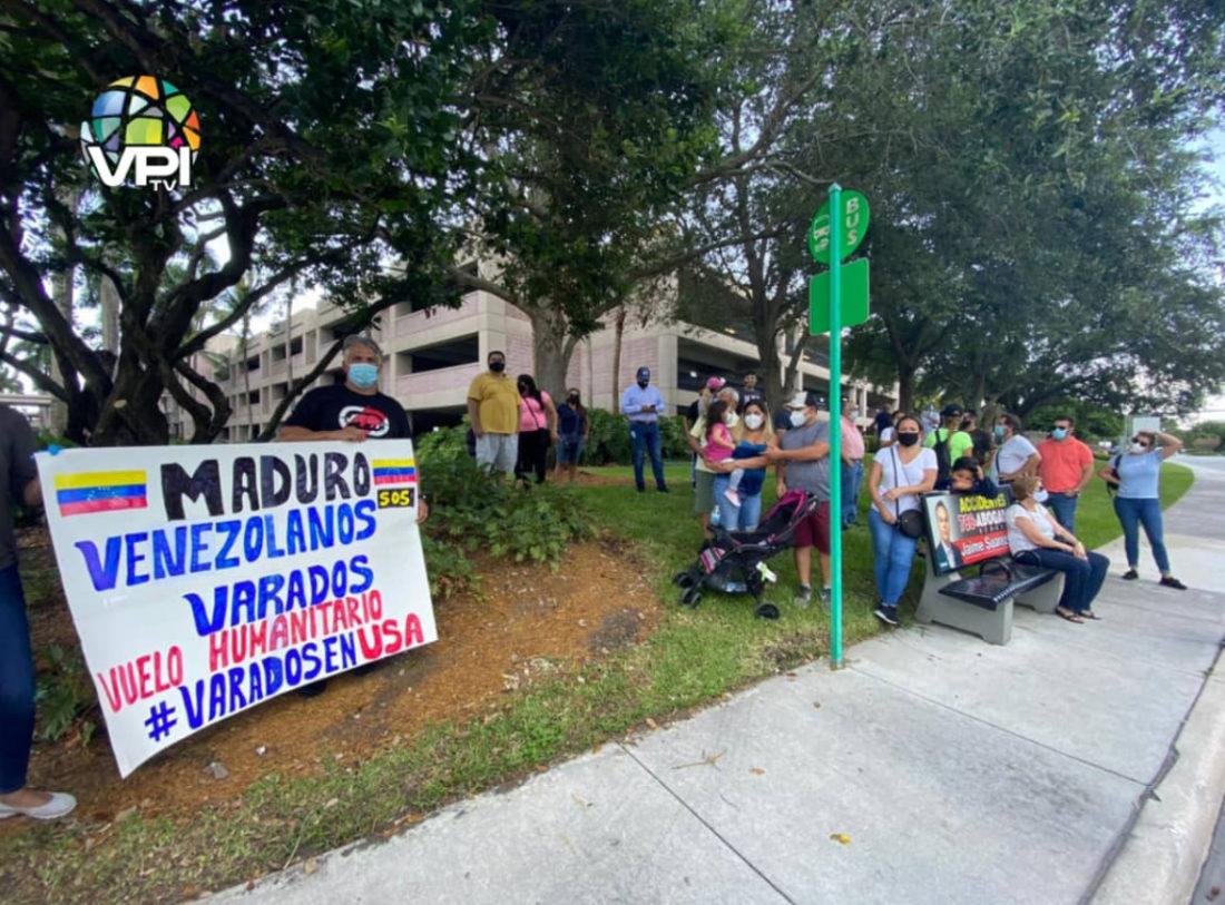 Venezolanos varados en Miami (EEUU) protestaron para ser repatriados
