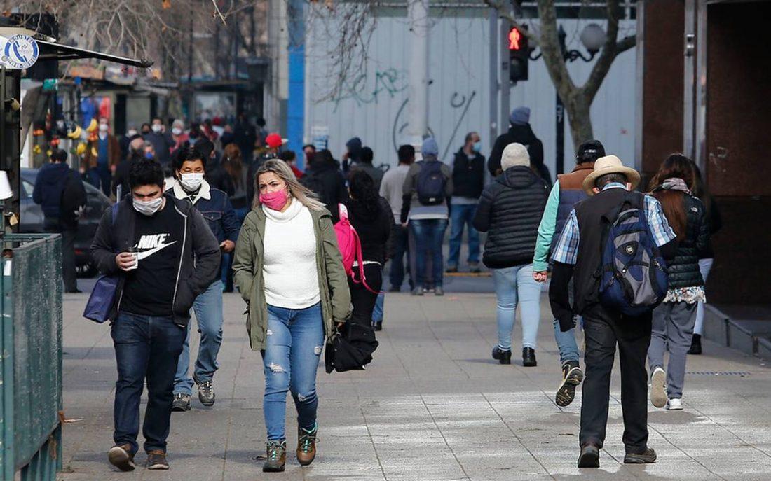Centro de Santiago de Chile reactivó su comercio