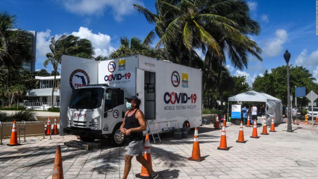 Récord de muertes en Florida: se registraron 276 decesos por coronavirus