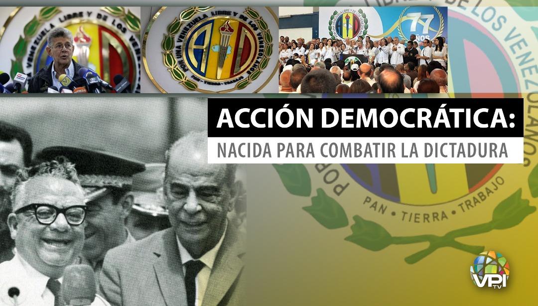 Acción Democrática, el partido que nació para luchar contra la dictadura