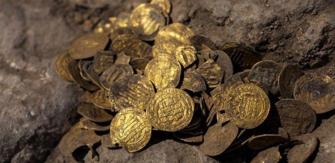 Desenterraron en Israel monedas de oro con más de 1.000 años