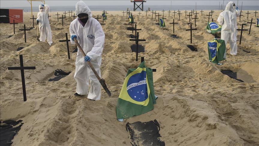 Brasil registra 709 nuevas muertes por coronavirus