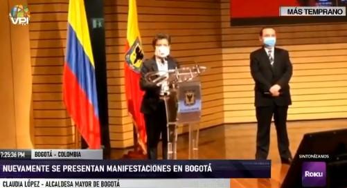 Protestas en Colombia | Alcaldesa de Bogotá