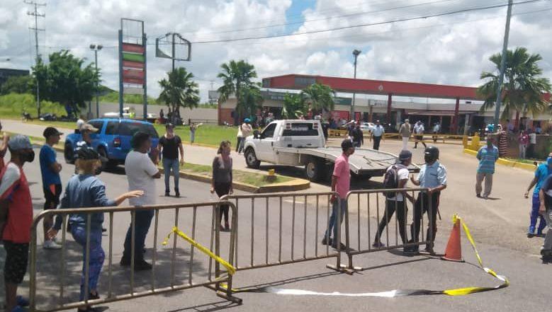 Dos detenidos en protesta por gasolina en Maturín