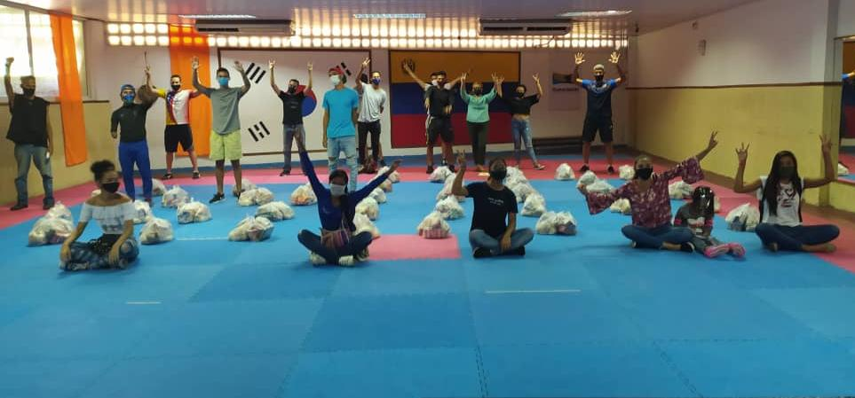 Movimiento Mundial GCS donó alimentos al taekwondo venezolano