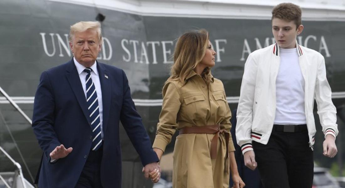 Barron, El hijo menor de Donald Trump también se contagió de covid-19
