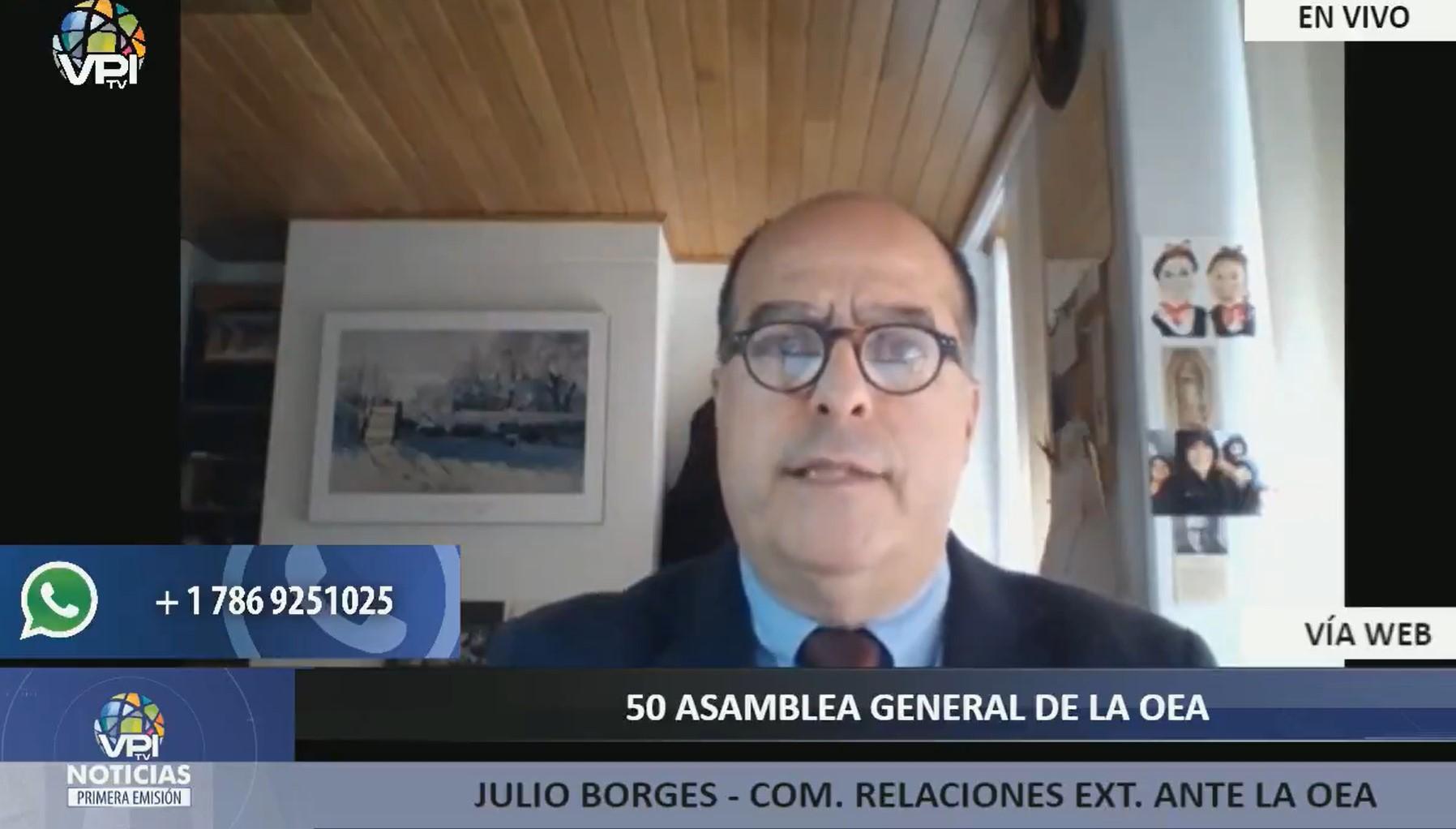 Julio Borges pidió a la OEA desconocer parlamentarias de diciembre