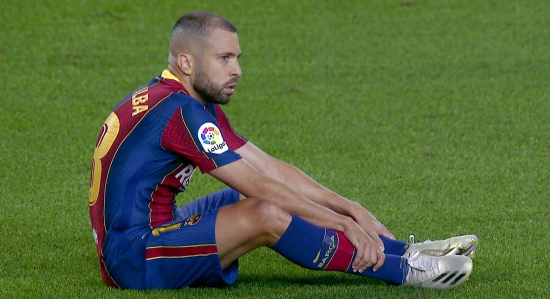FC Barcelona confirmó lesión de Jordi Alba