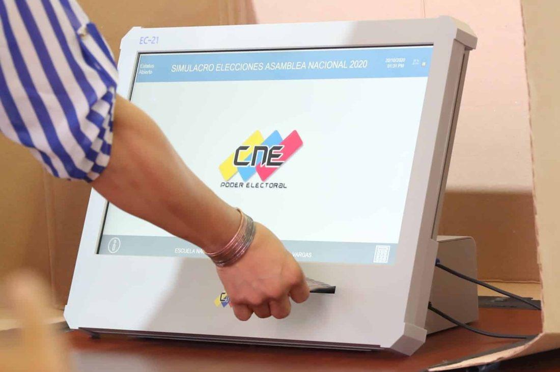 Simulacro electoral CNE
