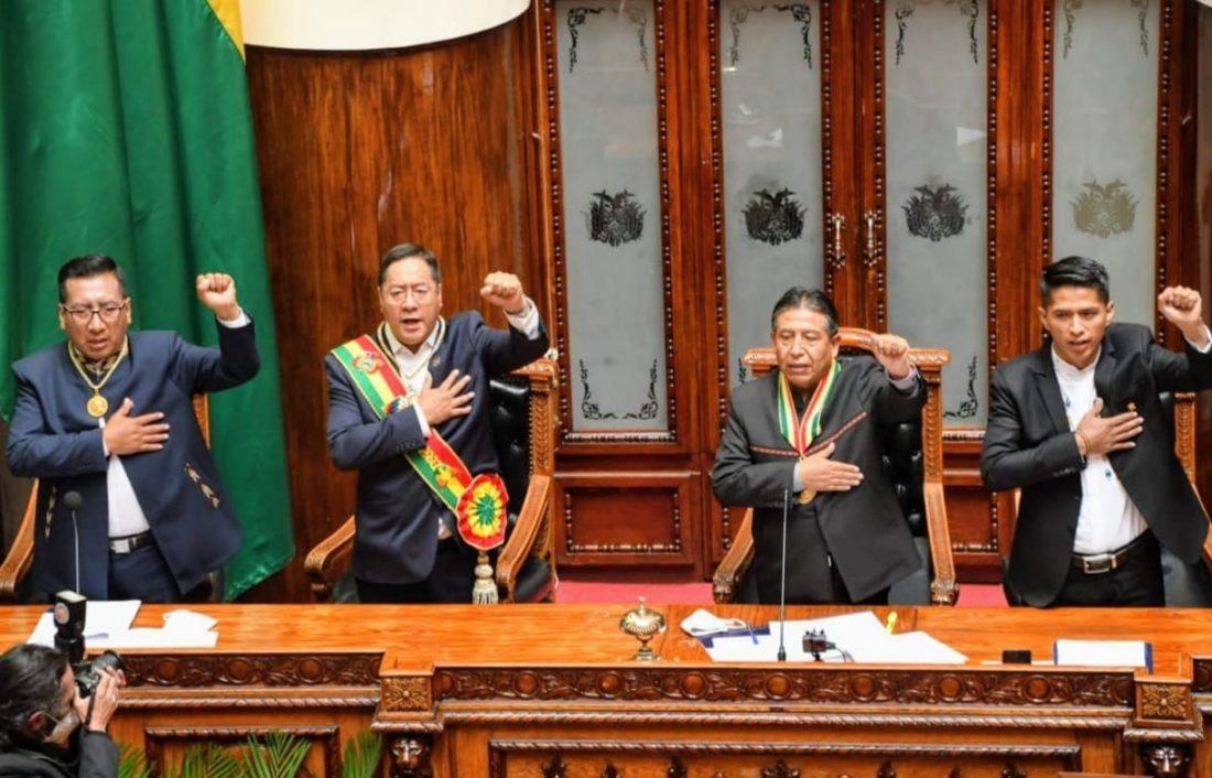 Luis Arce fue juramentado nuevo presidente de Bolivia
