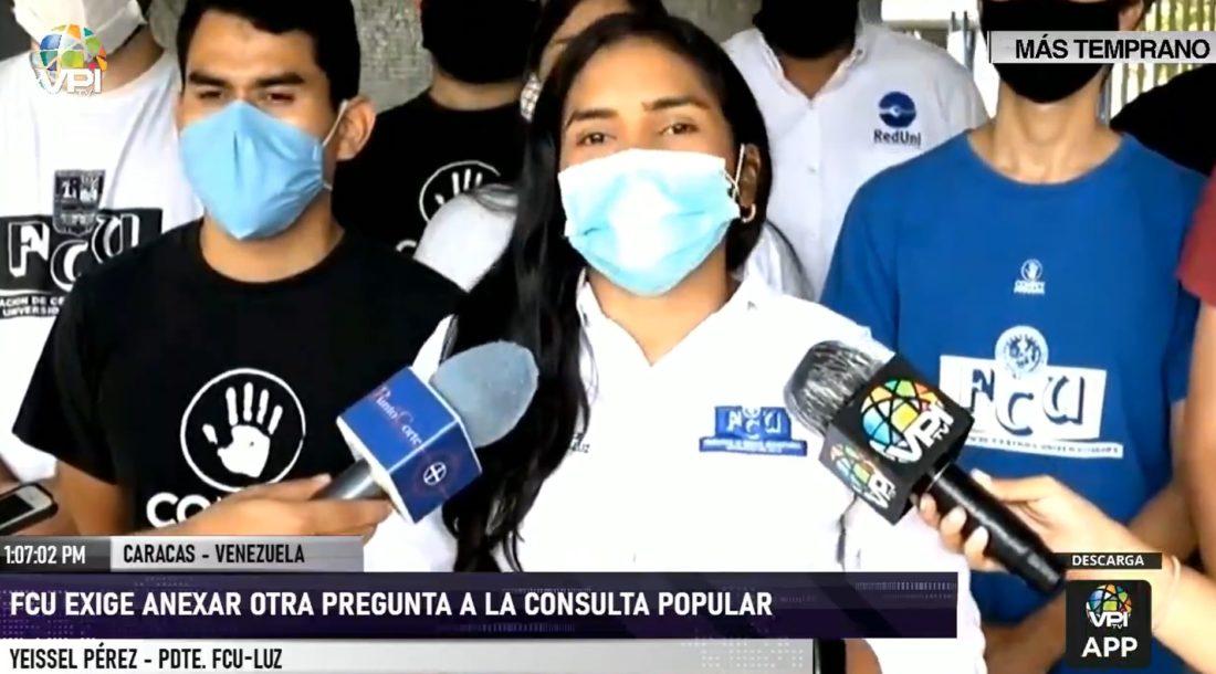 Confederación de Estudiantes de Venezuela pide se agregue una pregunta más a la Consulta Popular
