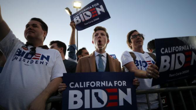 Joe Biden es favorito ganador, por el voto latino, en el estado de California