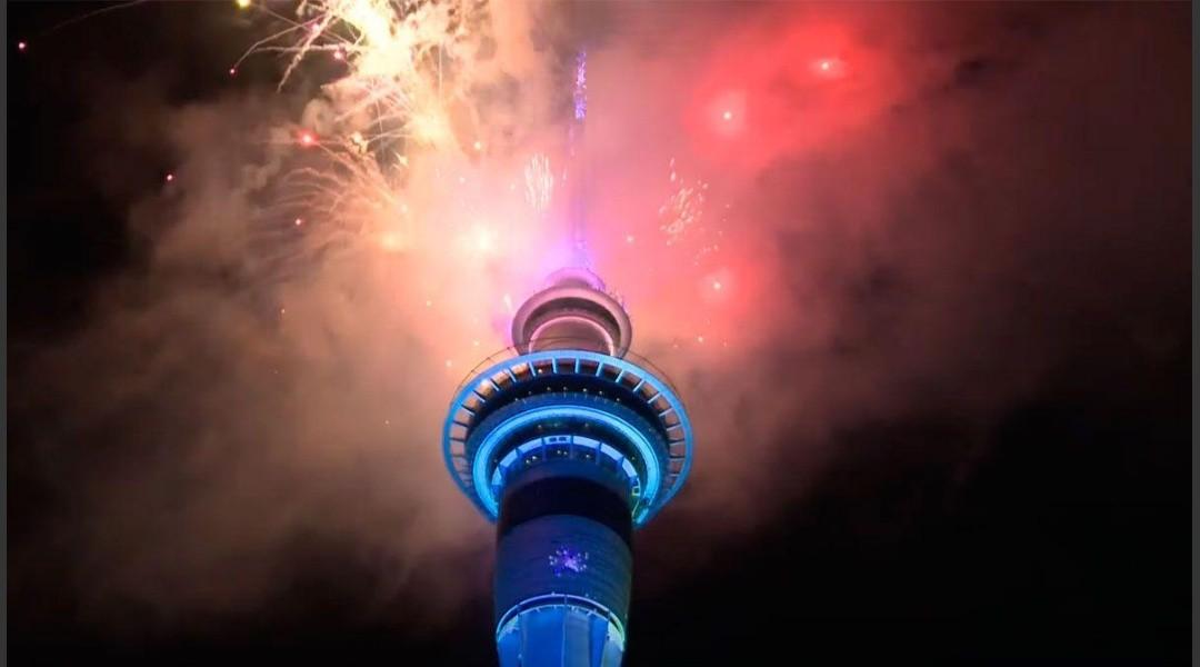 Nueva Zelanda le dio la bienvenida al 2021
