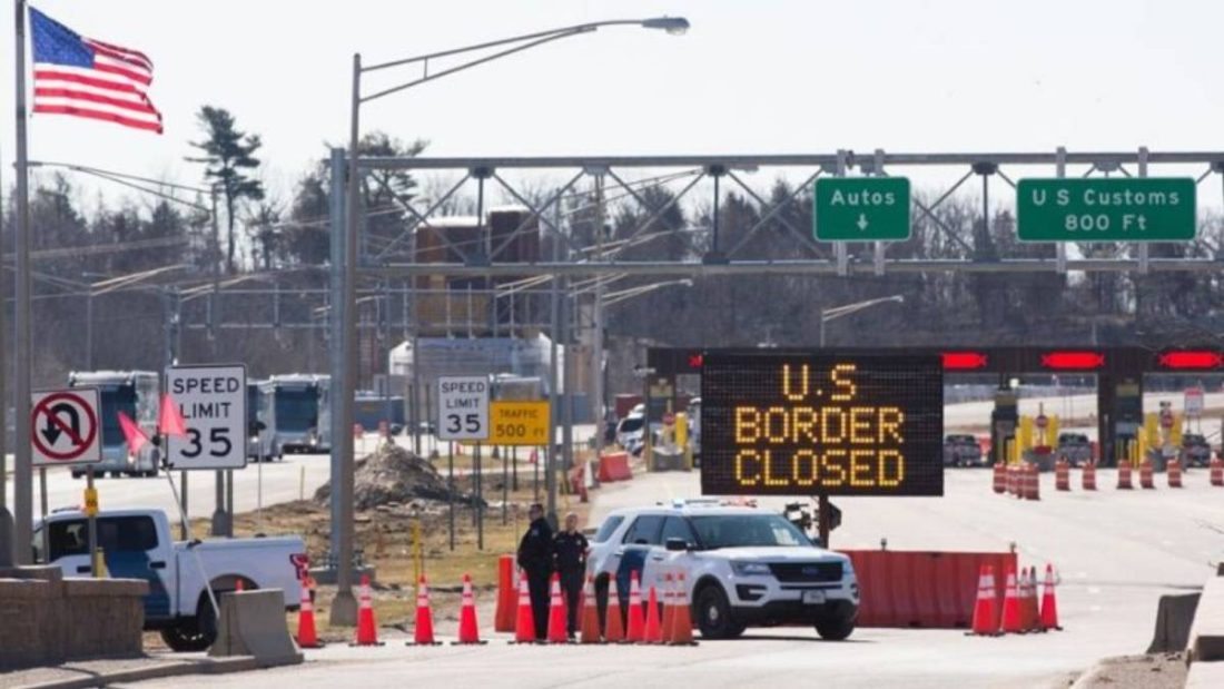 Frontera de Canadá con Estados Unidos