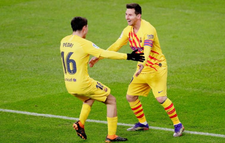 Conexión Messi - Pedri le dio la victoria al FC Barcelona (+Video)